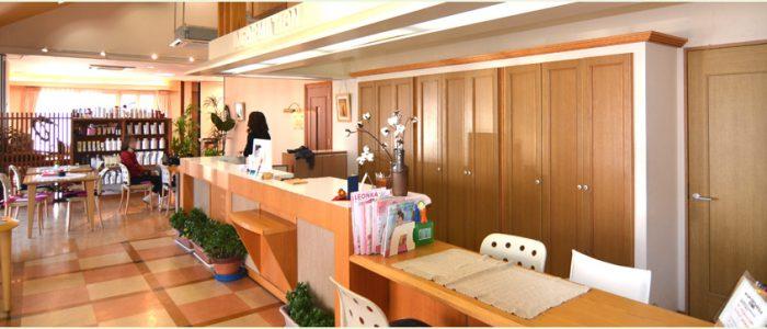 岡山の美容室、加羅の内装1